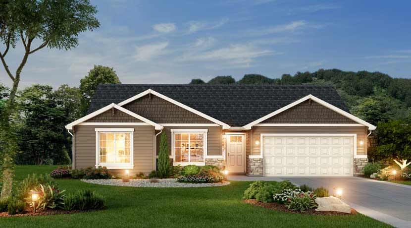 Villas Lifestyle 1616 Custom Home Plan By Lexar Homes